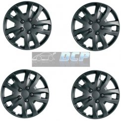 JET 13 inch matt black car wheel trim set