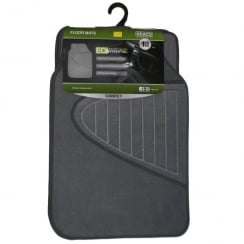 Eco recycled universal grey carpet car floor mats (Set of 4)