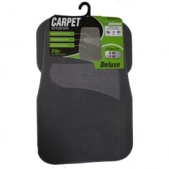 Entry level universal grey carpet car floor mats (Set of 4)