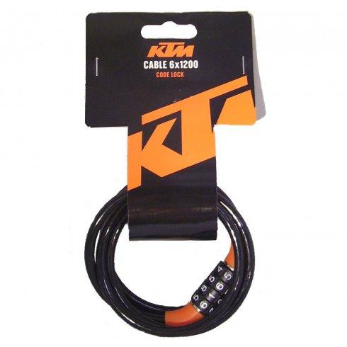 KTM 120cm 4 digit mini combination bike lock