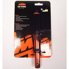 CNC alloy hybrid mini bike pump for both presta and schrader valve types