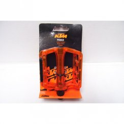Freeride orange platform plastic bike pedals