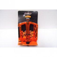 Freeride orange platform plastic bike pedals