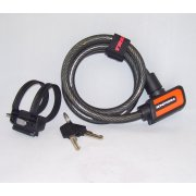 K2 automatic closing bike lock cable with keys