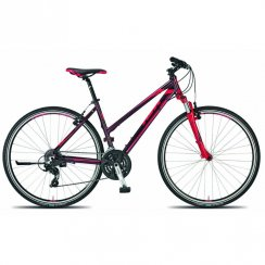 Life One hybrid ladies bike 46cm - Port red/Berry frame