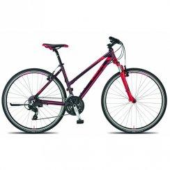 Life One hybrid ladies bike 46cm - Port red/Berry frame