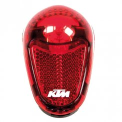 rear red bike light with built-in reflector and bracket - includes batteries