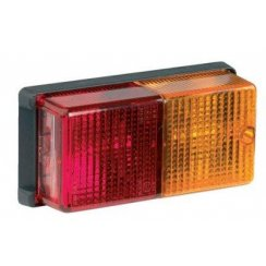 Large four function trailer light complete with bulbs