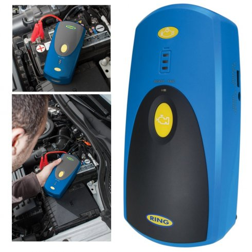 Lithium Ion power pack car jump starter with USB charging socket