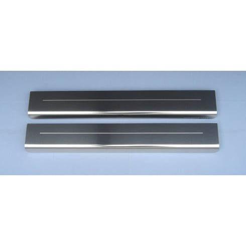 Vauxhall Corsa D 5 door stainless steel sill protectors (set of 2 sills)