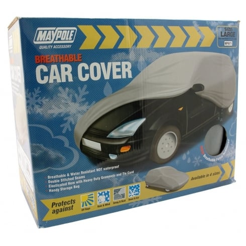 breathable car cover in four sizes with handy storage bag