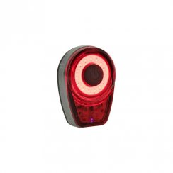 Ring rear bike light with 25 lumens output