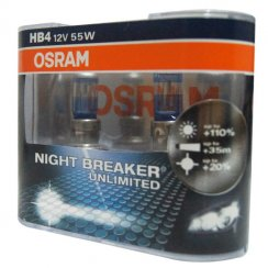 High performance HB4 Night Breaker Unlimited car headlight bulbs