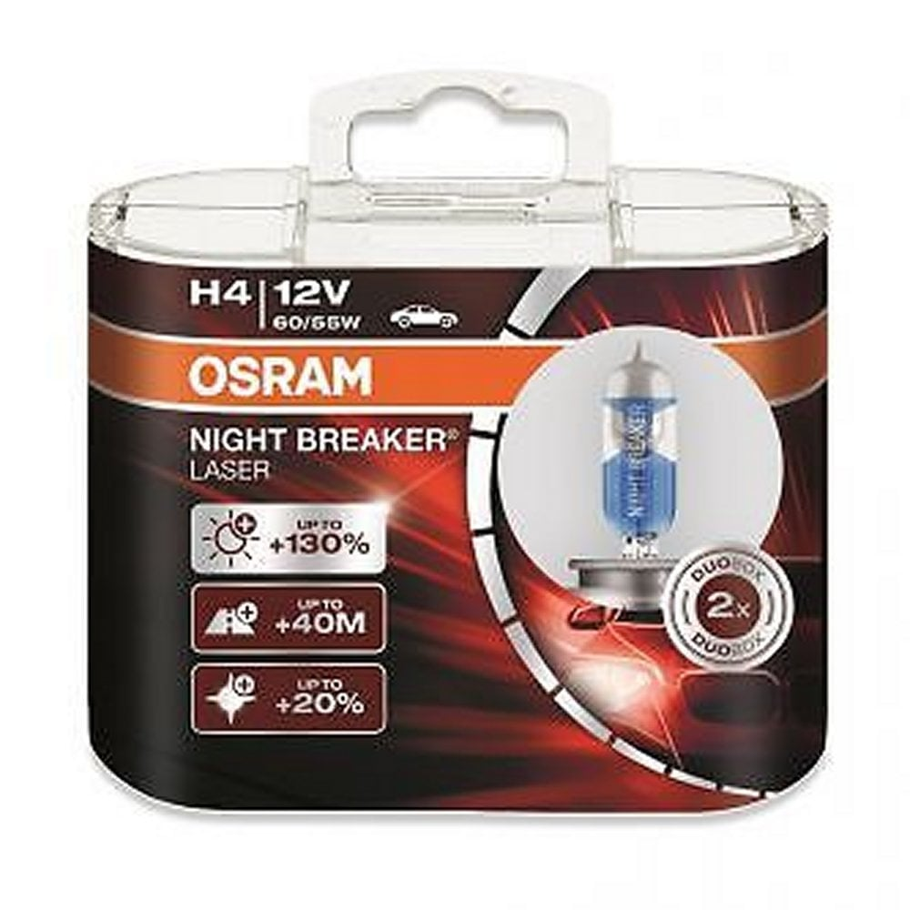 osram night breaker laser h4 bulbs from direct car parts. Black Bedroom Furniture Sets. Home Design Ideas