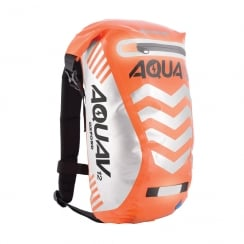 Aqua V12 extreme visibility waterproof orange cycle backpack