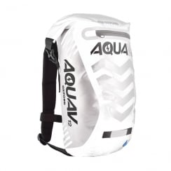 Aqua V12 extreme visibility waterproof white cycle backpack