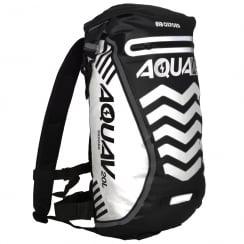 Aqua V20 extreme visibility waterproof black cycle backpack