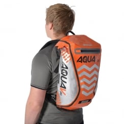 Aqua V20 extreme visibility waterproof orange cycle backpack