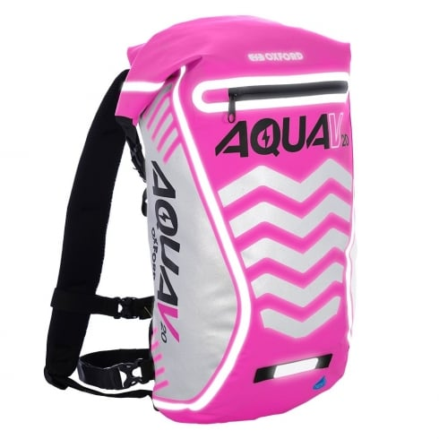 Oxford Products Aqua V20 extreme visibility waterproof pink cycle backpack