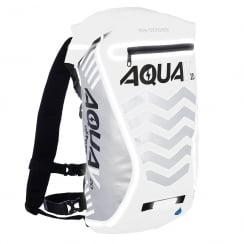Aqua V20 extreme visibility waterproof white cycle backpack