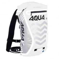 Aqua V20 extreme visibility waterproof white cycle backpack