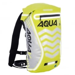 Aqua V20 extreme visibility waterproof yellow cycle backpack
