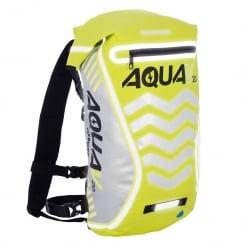 Aqua V20 extreme visibility waterproof yellow cycle backpack