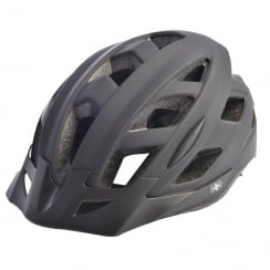 Metro-V Cycling Helmet with integrated LED in matt black (M/L-58-61cm)