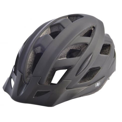 Oxford Products Metro-V Cycling Helmet with integrated LED in matt black (S/M-52-59cm)
