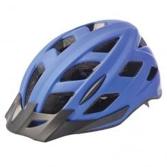 Metro-V Cycling Helmet with integrated LED in matt blue (M/L-58-61cm)