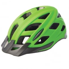 Metro-V Cycling Helmet with integrated LED in matt green (S/M-52-59cm)