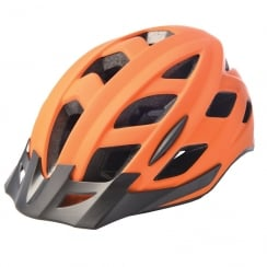 Metro-V Cycling Helmet with integrated LED in matt orange (S/M-52-59cm)