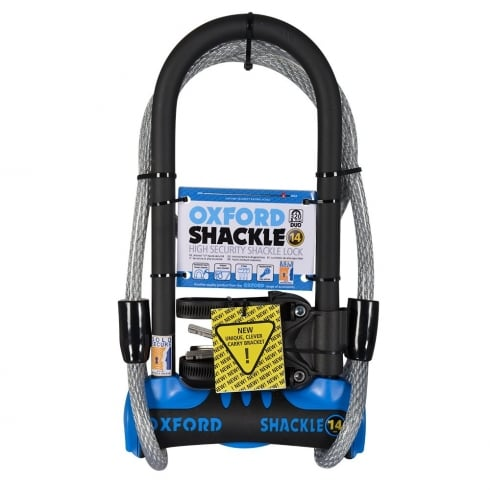 Oxford Products Oxford shackle 14 DUO U-lock (320mm) with 1.2mtr x 12mm cable