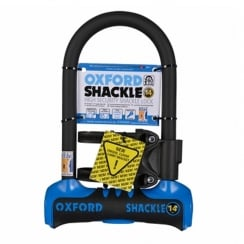 Oxford shackle 14 U-lock (260mm) Blue/Black sold secure gold