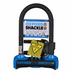 Oxford shackle 14 U-lock (260mm) Blue/Black sold secure gold