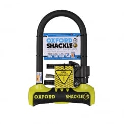 Oxford shackle 14 U-lock (260mm) Yellow/Black sold secure gold