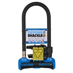Oxford shackle 14 U-lock (320mm) Blue/Black sold secure gold