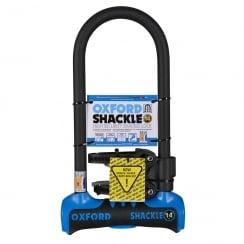 Oxford shackle 14 U-lock (320mm) Blue/Black sold secure gold