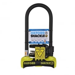 Oxford shackle 14 U-lock (320mm) Yellow/Black sold secure gold