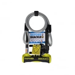 Oxford shackle DUO U-lock (320mm) with 1.2mtr x 12mm cable