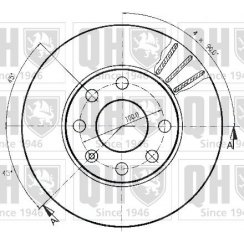 Pair of Quinton Hazell brake discs for Vauxhall Astra F, Corsa B, Nova