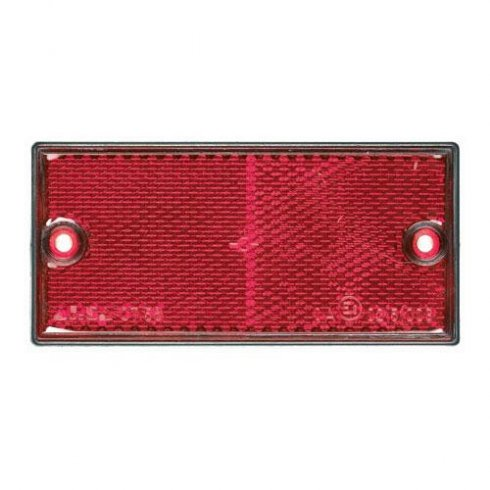 Pair of red rectangular rear reflectors