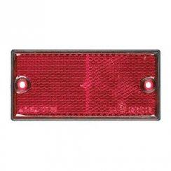 Pair of red rectangular rear reflectors