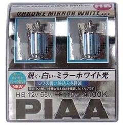 HB3/4 chrome mirror white headlight bulbs