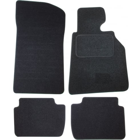BMW E46 3 Series Saloon black car mats 1998-2005 with round clips