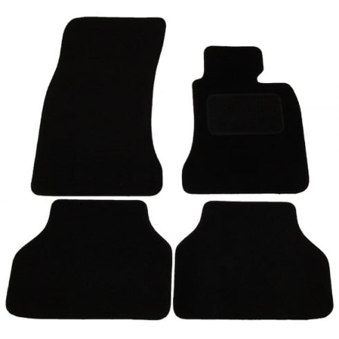 Polco BMW E60 5 Series black car mats 2003-2010 with round clips