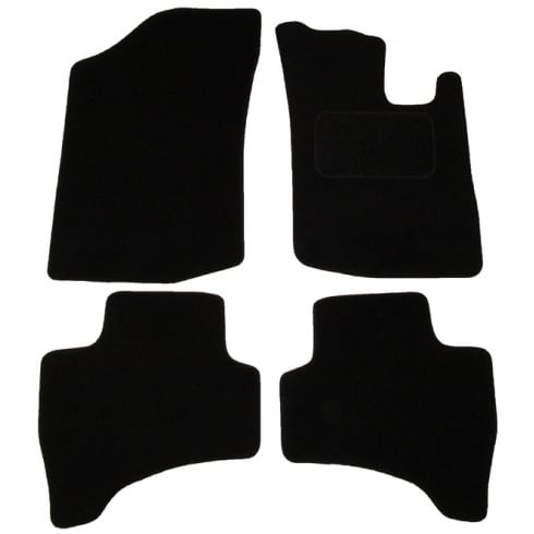 Citroen C1 black car mats up to 2011 with round clips