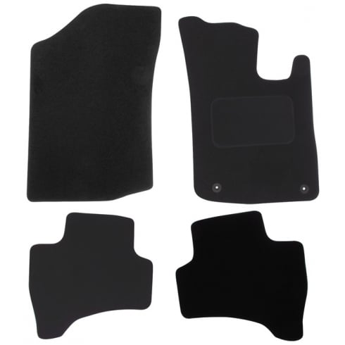 Citroen C1 car mats 2012-2014 with round clips