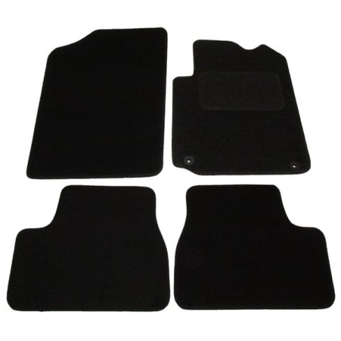 Citroen DS3 black car mats 2010> with round clips