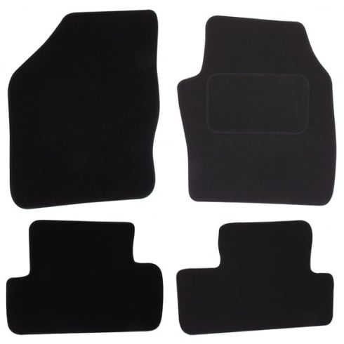 Ford Focus C-Max black car mats 2003-2011 with round clips